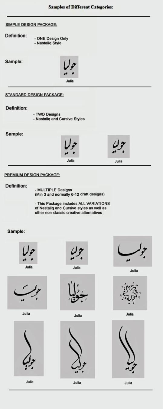 Pricing Persian Tattoo Designs